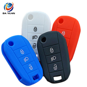 AS061004 Silicone key fob cover case for Citroen C2 C3 C4 C5 C6 C8 Remote