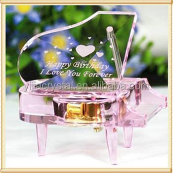 Kunstmatige Bruiloft Gunsten K9 Glas Kristal Piano Gelukkige