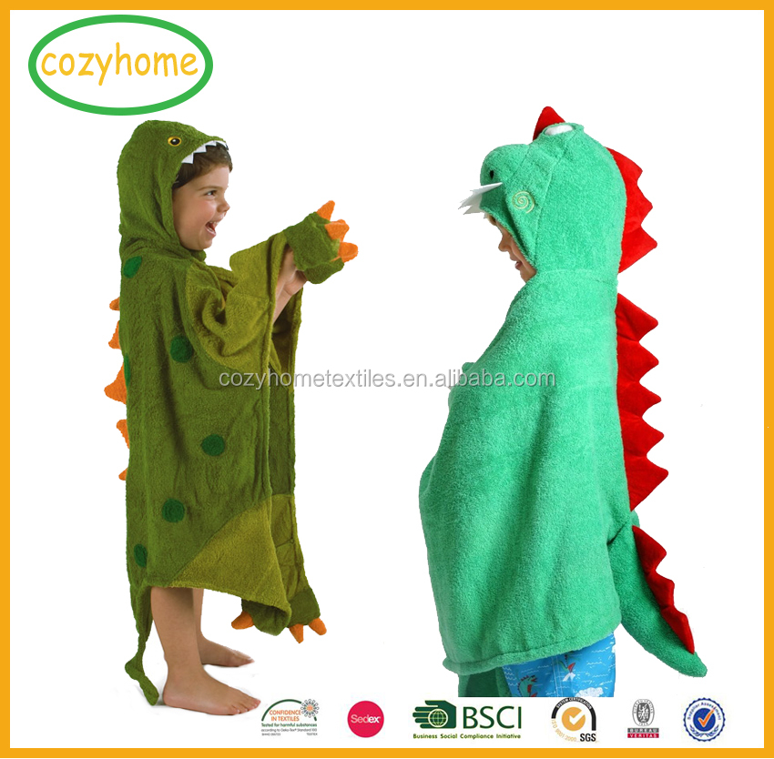 Hot Sale Robe Towel spring Autumn Winter Kid Baby Girl Boy Bloak Dinosaur Cartoon Ultra-soft Hooded Towel For Beach and Bath