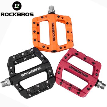 ROCKBROS Cycling MTB Bike Bicycle Pedals Ultralight Seal Bearings Nylon Molybdenum Pedals Durable Widen Area Bike Bicycle Pedal