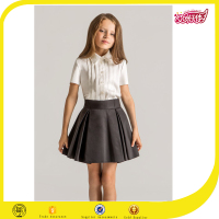 OEM service custom primary school uniform design matching skirt white school tops shirt