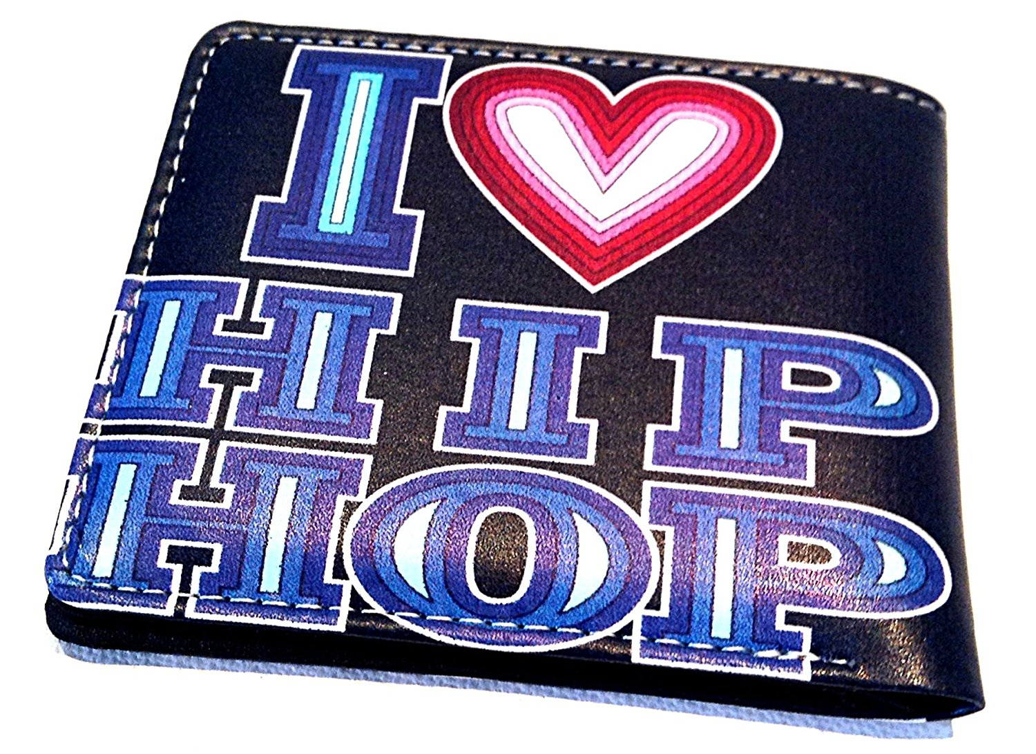 "new HIPHOP ""i love HIPHOP,wallet style 5 pocket Graffiti style wallet collection , simple 5 pocket wallet/ clear ID slot , hiphop style collection"