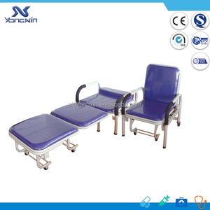 ANVISA CE listed, Foldable Hospital Accompany Attendant Chair cum Bed