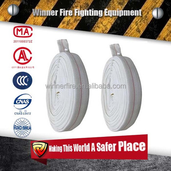 "1.5""-8""8bar portable elastic high flexibility PVC lined fire resistant hose"