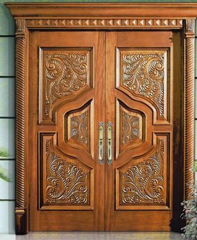 American style deluxe antique double wood door cnc carved for Door design cnc