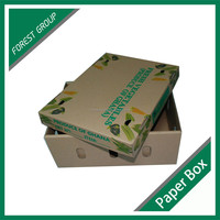 cardboard box for fruit and vegetable packing box