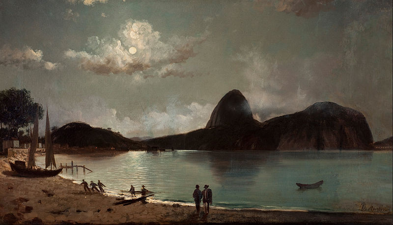 Canvas Art Prints Fabric Wall Decor Giclee Oil Painting Eduardo De Martino - Botafogo Beach