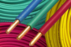 plastic insulated copper electric wire