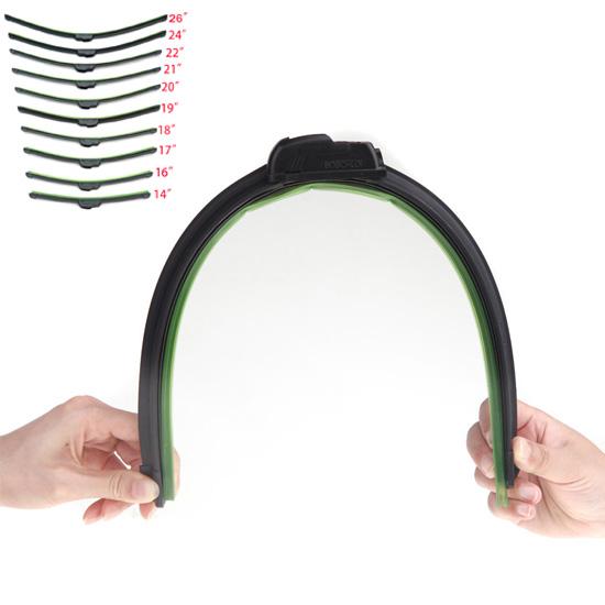 Универсальный u-тип стеклоочиститель безрамное автомобилей стеклоочиститель Bracketless мягкие резиновые ветрового стекла со всей разного размера