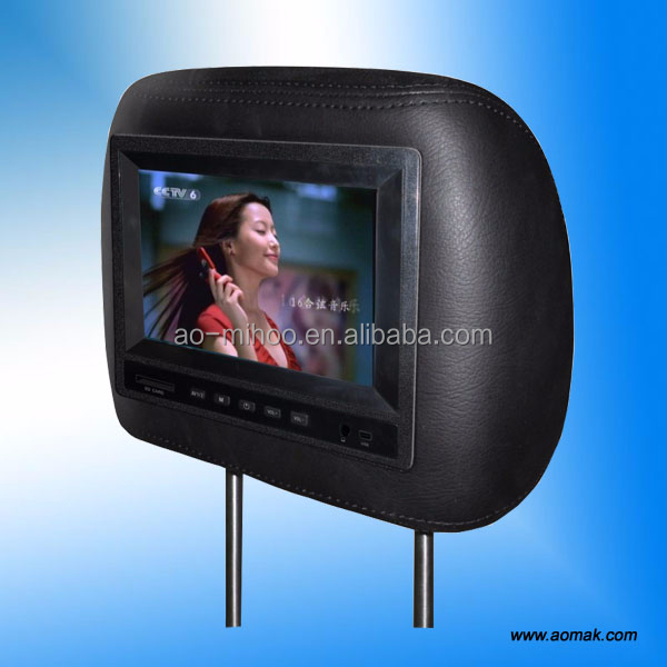 "9"" LCD andriod taxi video headrest WiFi advertising player"