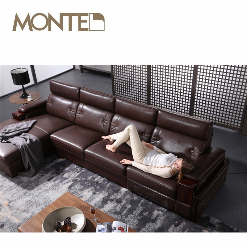 Leather Wood Trim Sofa Leather Wood Trim Sofa Suppliers and