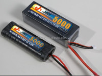 RC Hobby Radio Control Style li-polymer battery 7.4v 5000mAh 40c RC racing car battery