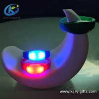 DMX event wristbands glow motion activated led bracelet RFID timer bracelet