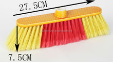 HQ0577V hand varnished broom with yellow wooden handle made in China