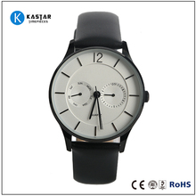 Best selling japan movt quartz watch stainless steel black new leather men watch