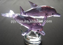 nice k9 material good qaulity pink color jumping crystal dolphin