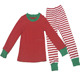 Winter Cotton Infant Stripe Christmas Outfits Comfortable Homewear Red Pajamas