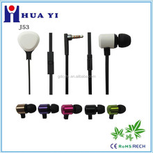 factory wholesale customized Log o metal earphone good quality high class for mobile mp3/mp4