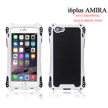 AMIRA Waterproof Shockproof Carbon Fiber Gorilla Metal Aluminum Gorilla Glass Armor Case Cover For  iphone 5 phone case