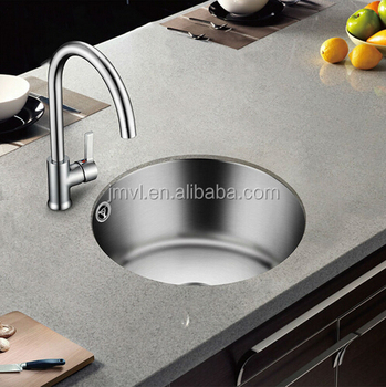 Stainless steel sink single small round bar trough kitchen basin, View  stainless steel kitchen wash basin, OEM Product Details from Jiangmen  Victory ...