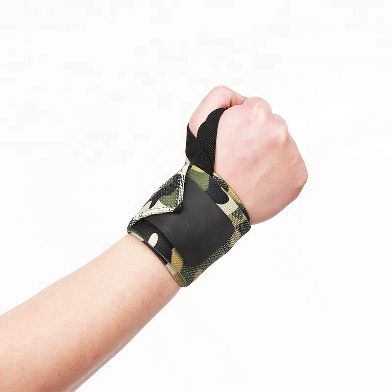 Professional Camouflage Powerlifting Wrist Support Strap Wrist Wraps