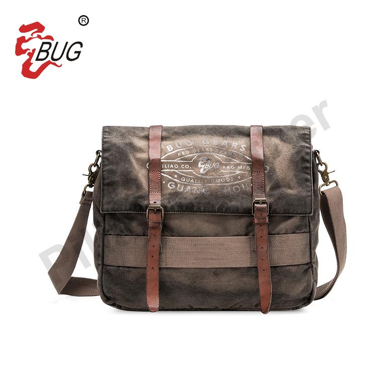 BSCI factory vintage canvas handbags women bags shoulder ladies side messenger bags with logo