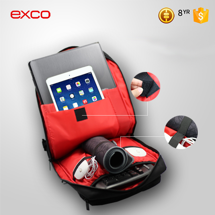 EXCO 2016 Laptop Backpack with surface Pocket Fits for gaming accessories, keyboard, mouse pad, mouse, etc