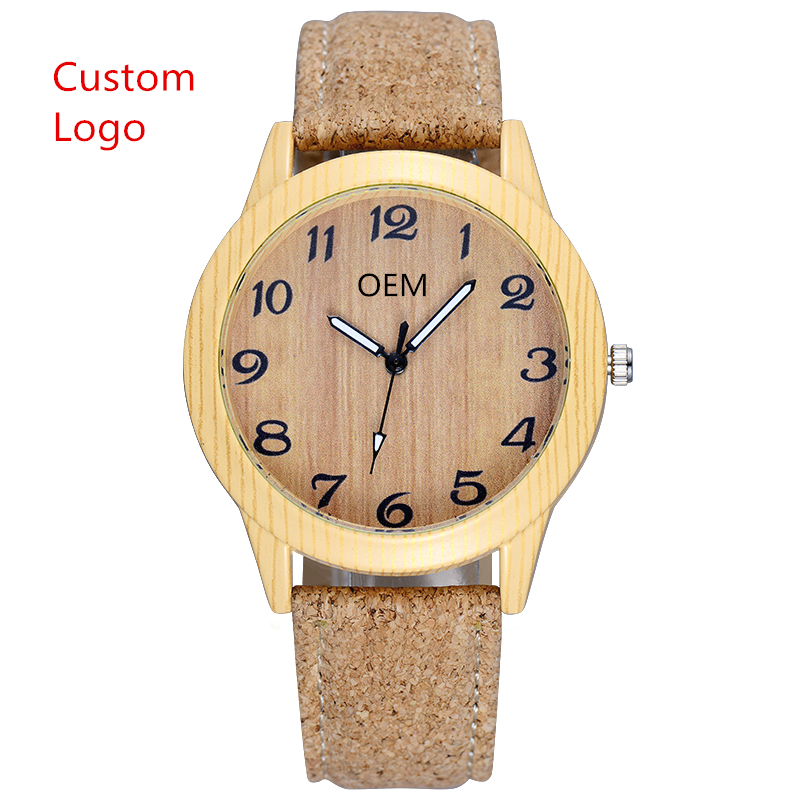 Custom Men Watch Eco-friendly Natural Private Label China Wholesale OEM Quartz Bamboo Watch With Your Own logo, #1;#2;#3