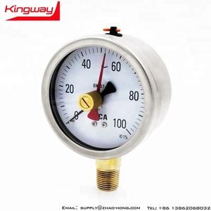 YS-100mm double needle pressure gauge calibration red needle pressure gauges