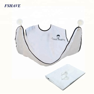 BEARD KING The Official Shaving Bib Hair Clippings Catcher Grooming Cape Beard Apron