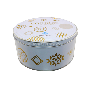 Round Cake Packaging Tins Empty Tin Box