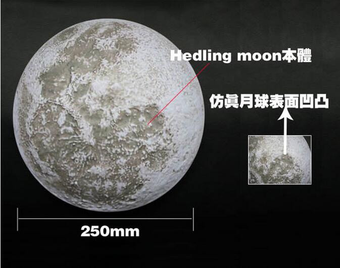 Healing moon lamp / wall mount fancy small battery powered led moon lamp