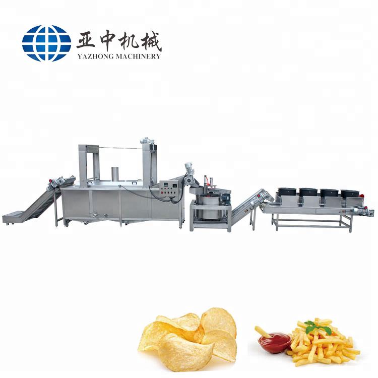 Types de puces de d'igname de copeaux de ligne banane croustillante ligne de production