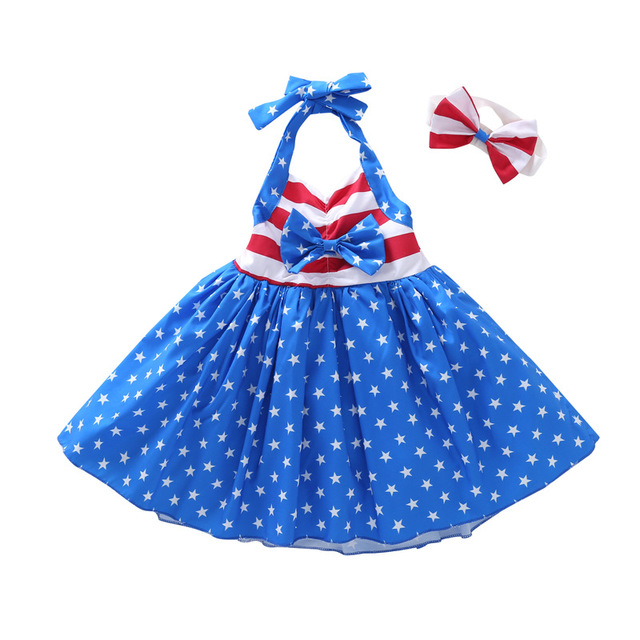 whosale New <strong>Design</strong> <strong>girl</strong> dress Flutter hair bow clothing <strong>girl</strong> summer 4th july baby dress american flag dress for <strong>girl</strong>
