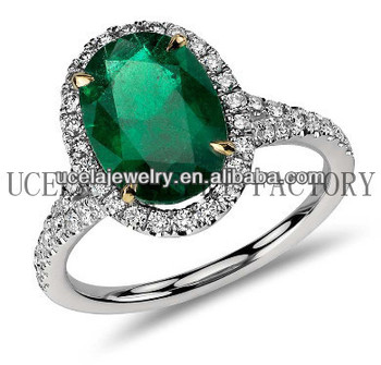 Oval Emerald And Micropave Diamond Ring Arabic Warren James Wedding Rings