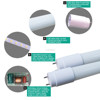 beam 180 9w 12w 18w 22w SKD form separated T8 led tube light parts glass lighting