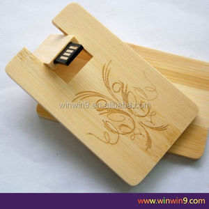 Personalized card usb wooden pen drive new promotional gadgets