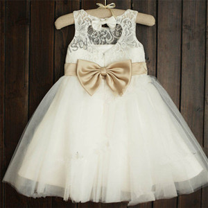 Baby Girls Party Wear Western Party Clothes for Kids Wholesale lace Girls Dress