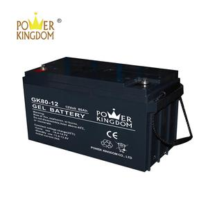 Real Gel High Quality 12V 80Ah Sealed Lead Acid Battery for Solar System