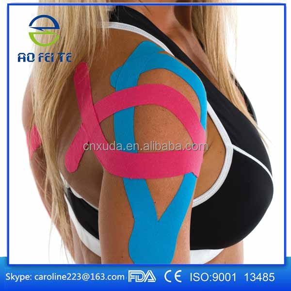2017 physiology elastic sport CE FDA kinesiology sports muscle tape for pain
