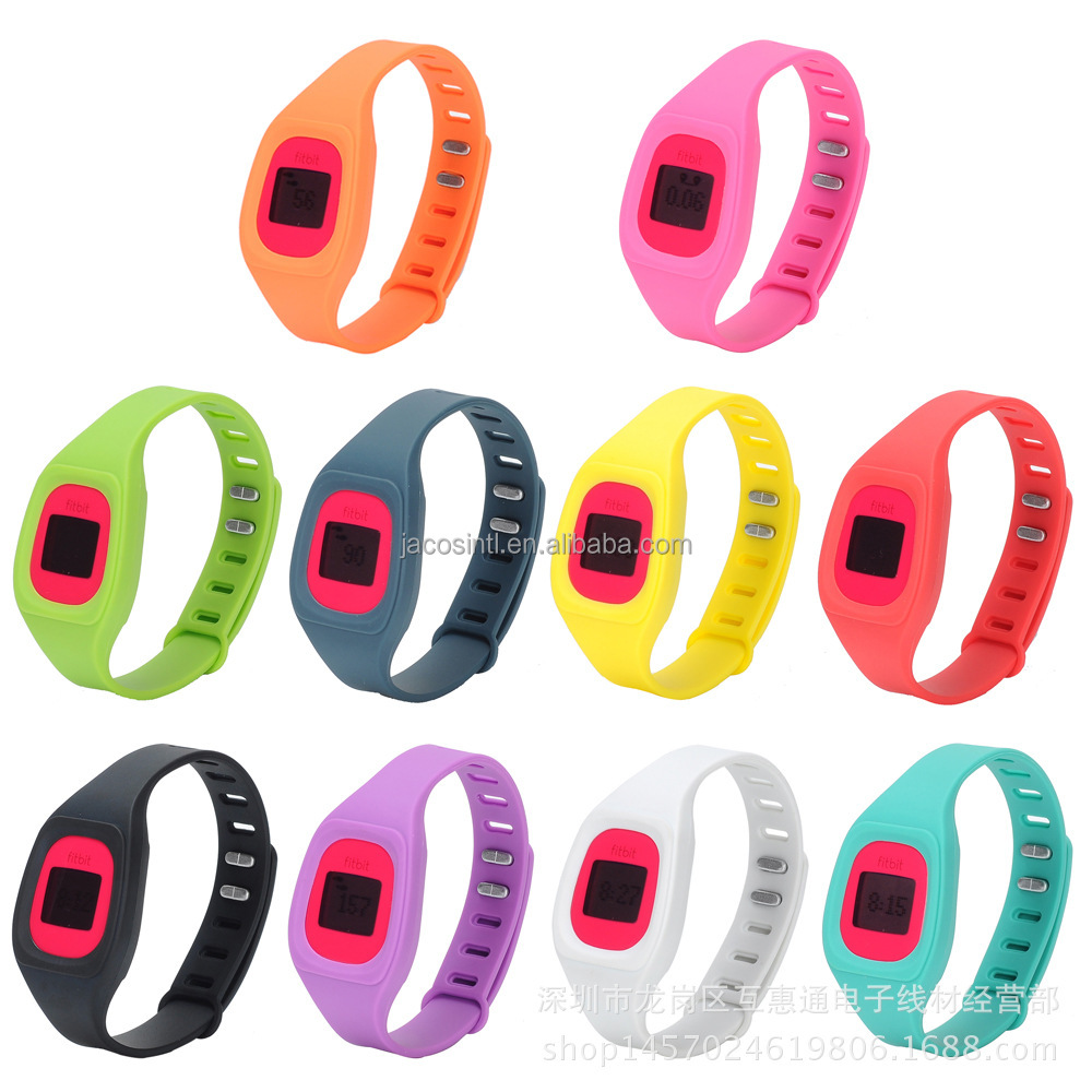 Colorful newest replacment silicon band silicon wrist watch strap For fitbit zip