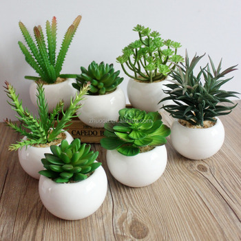 Yiwu Zero Small Succulent Pots Artificial Mini Succulent Cactus Plants Artificial