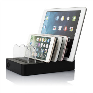 MIQ Fashion Design Cell Phone Charger Organizer Multi Port USB Tablet Charging Station for iPhone