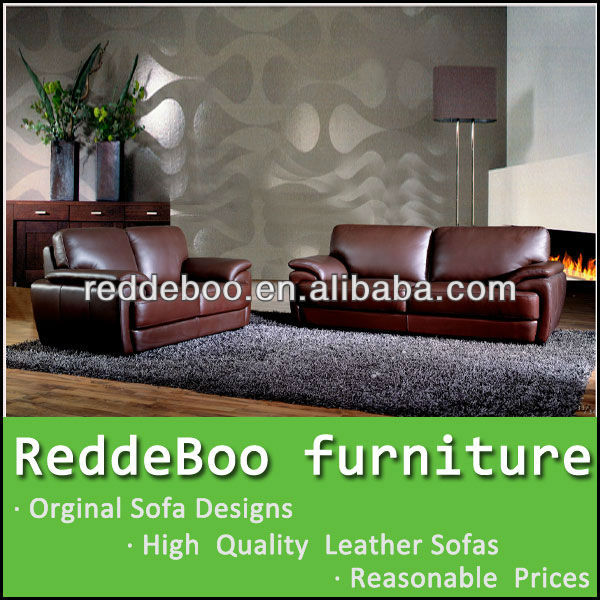 Dark Brown Leather Furniture , England Style Sofa Hot Sale S1000