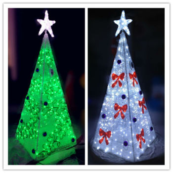 giant outdoor led light up cone christmas trees