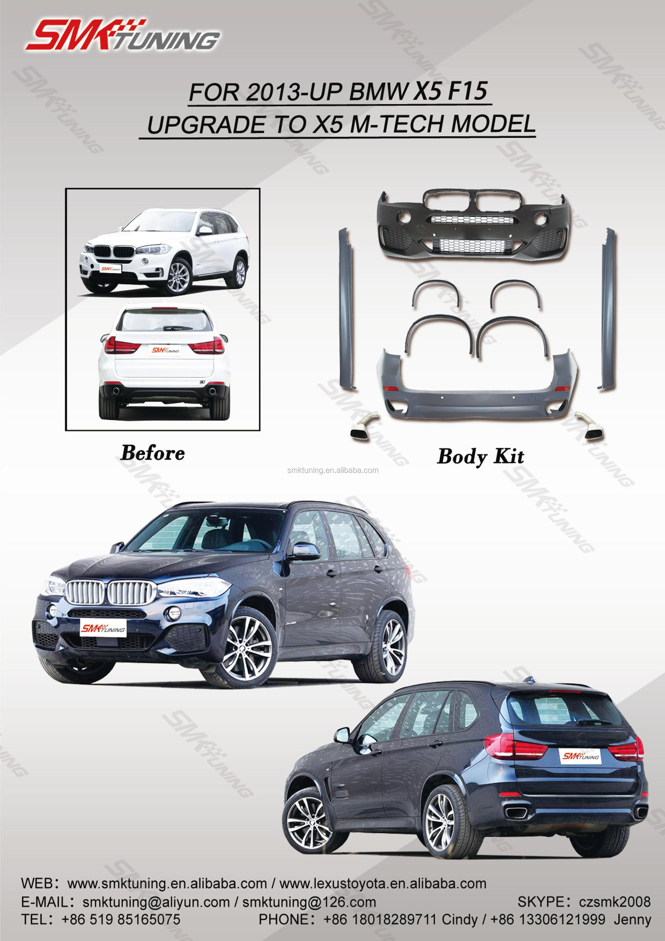 For 2013-up B-mw X5 F15 Upgrade To X5 M-tech Model Kit,Front Bumper rear  Bumper,Exhaust Tips,Fender Flares,Side Skirts,Body Kits - Buy Body Kits For