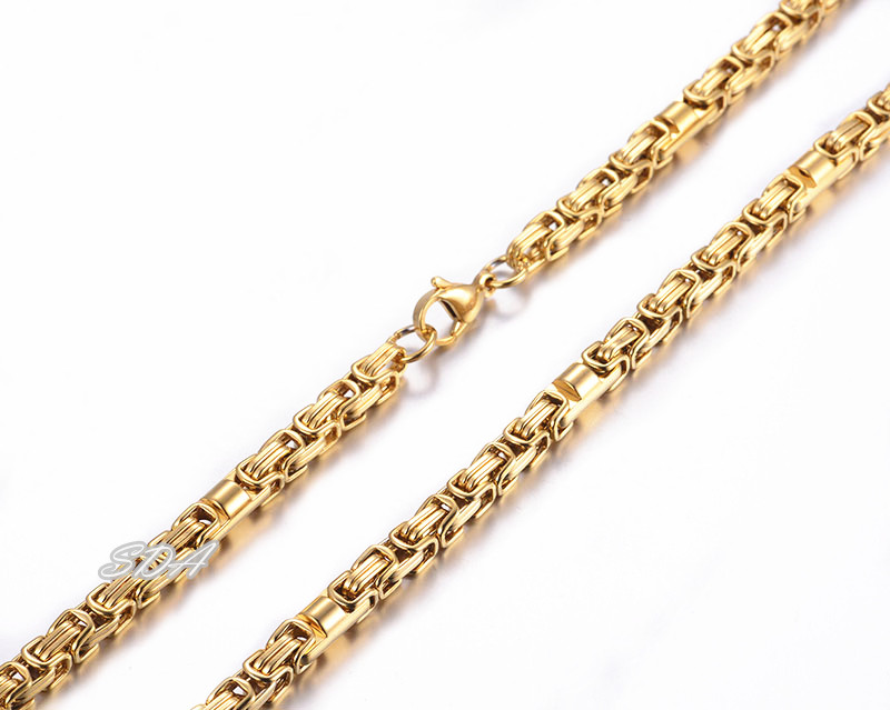 Hot New Fashion High Quality Stainless Steel Mens Jewelry Figaro PVD Gold Chains Link Heavy Necklace Made In China Factory