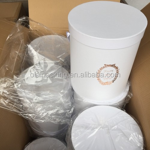 Wholesale Cardboard Paper Round Flower Box Handmade Flower