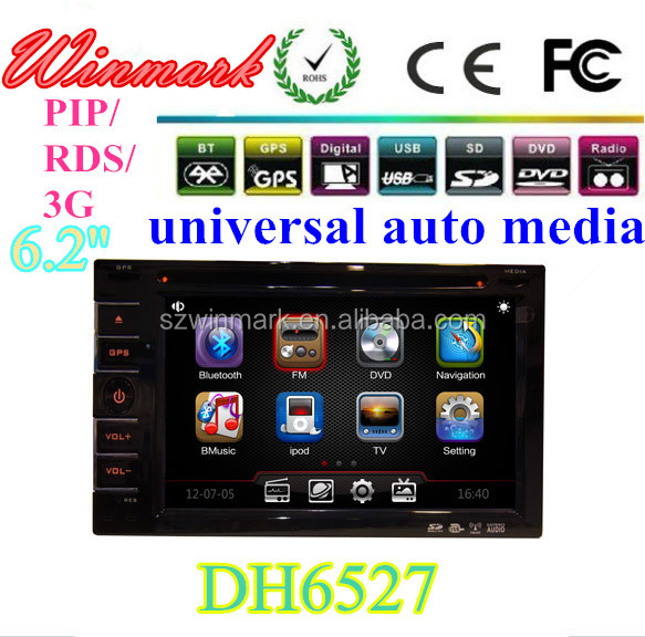 Touch Screen Toyota Universal Car DVD Player with GPS, With 6.2 Inch GPS, IPOD, Wince6.0 OS DH6527