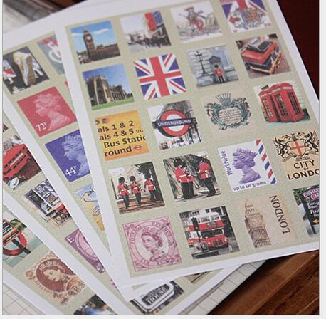 Retro 60 Pieces Hengxing Vintage Stickers Stamp Stickers Luggage Suitcase Laptop Waterproof Stickers Childrens Room Decor Labels